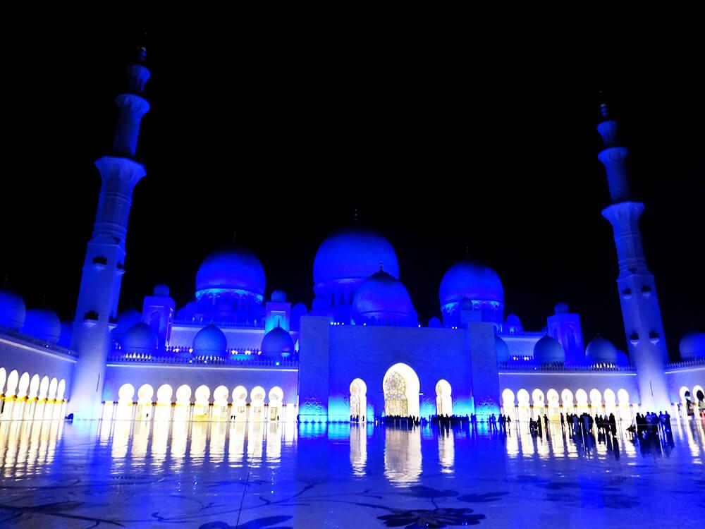 シェイク・ザイード・グランド・モスク ライトアップ