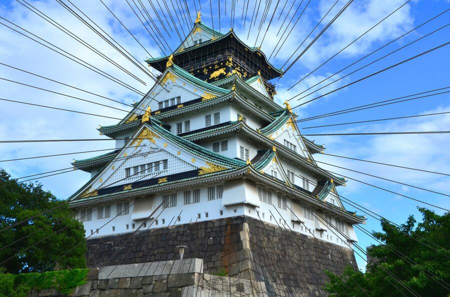 大阪城ヨリ画