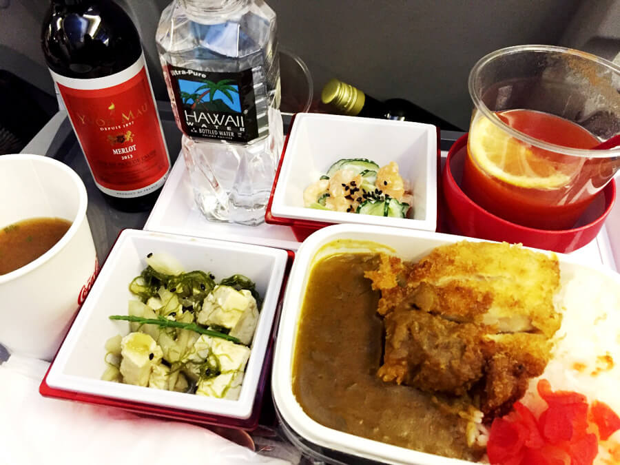 JAL機内食『チキンカツカレー』