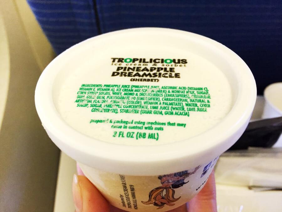 ANA機内食『「トロピリシャス」のアイスクリーム』