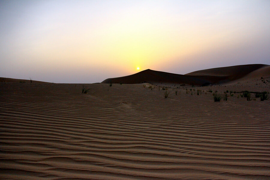 アブダビ砂漠サンセット