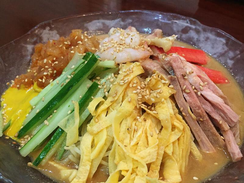 龍盛菜館の冷やし中華