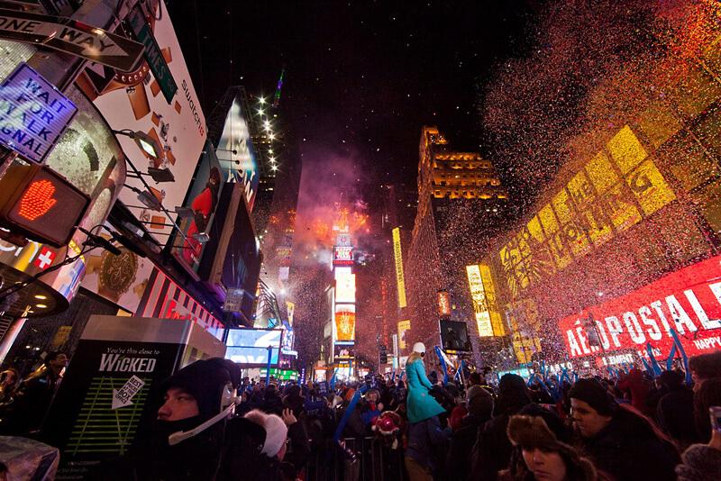 ニューヨークのニューイヤーセレモニー