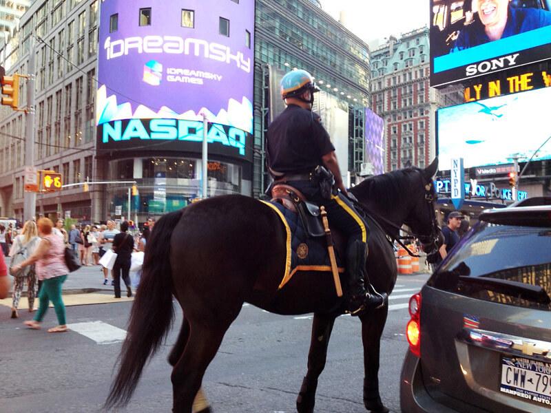 乗馬の警官