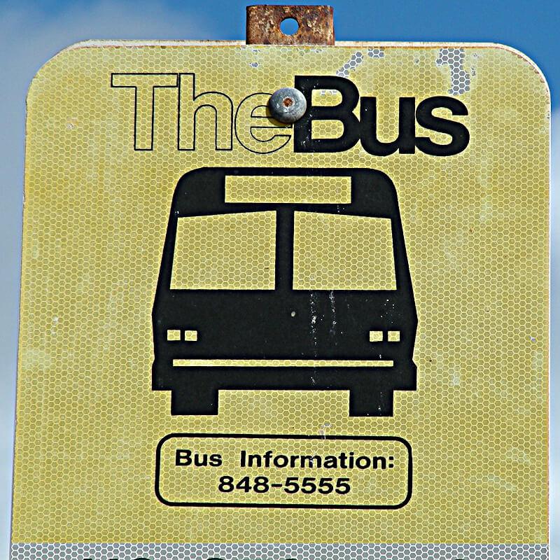 the busバスストップ