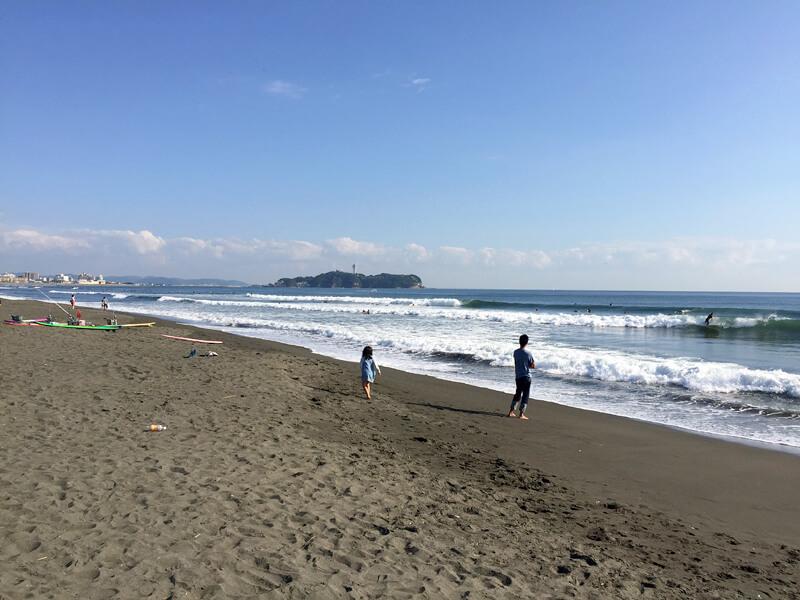 昼過ぎの辻堂海岸