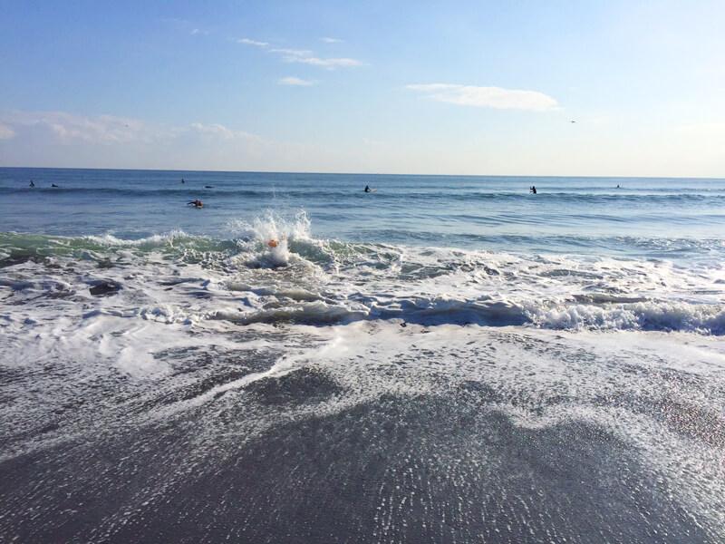 海の冷たさを完全に感じたいばたさん