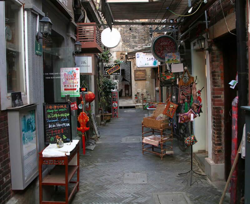 田子坊の街並み