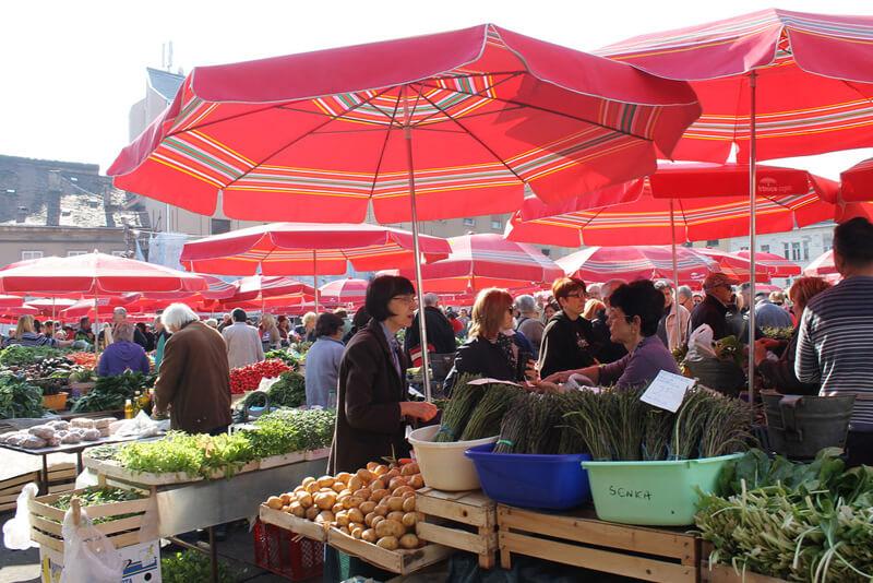 ザグレブ青空市場