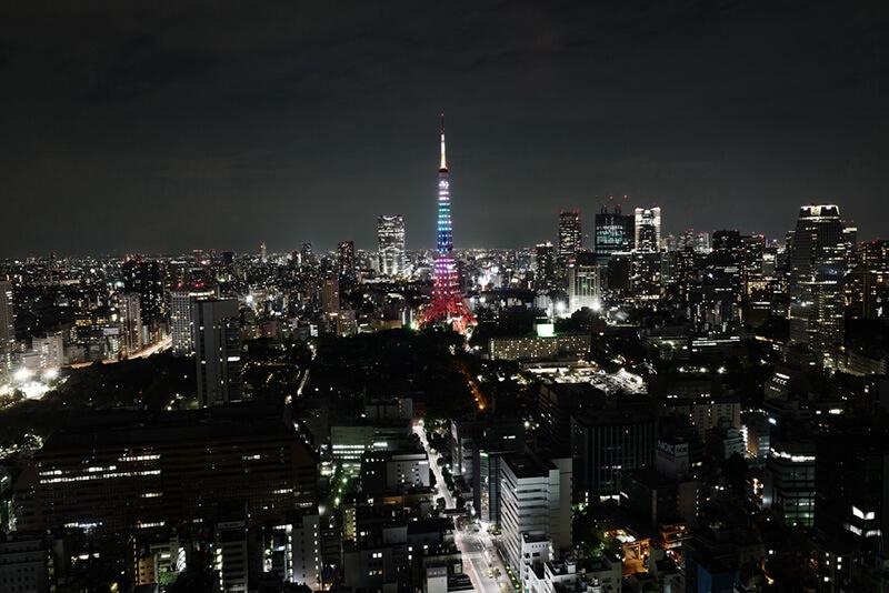 世界貿易センタービル40F展望台シーサイド・トップ 夜景