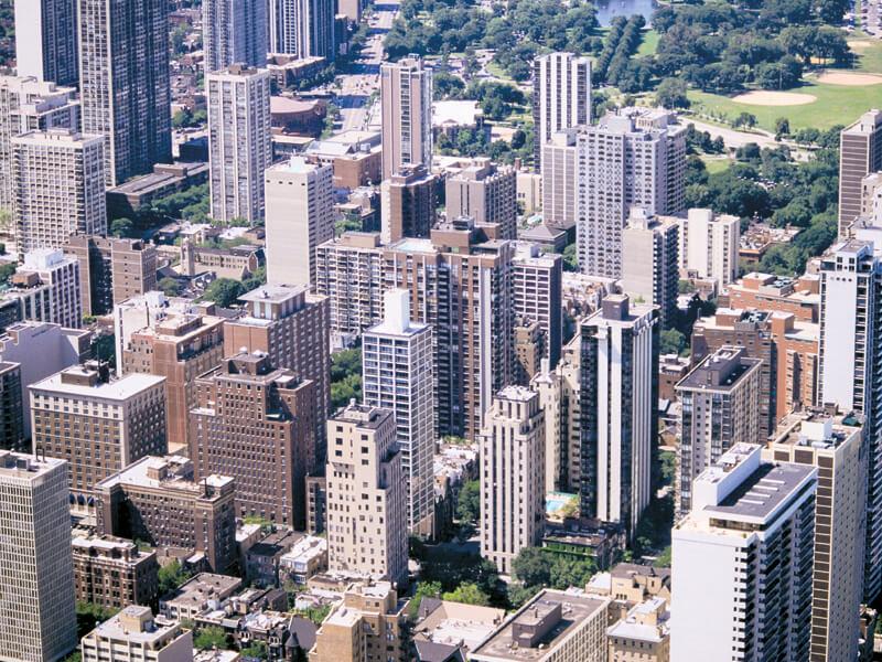 シカゴの街並み