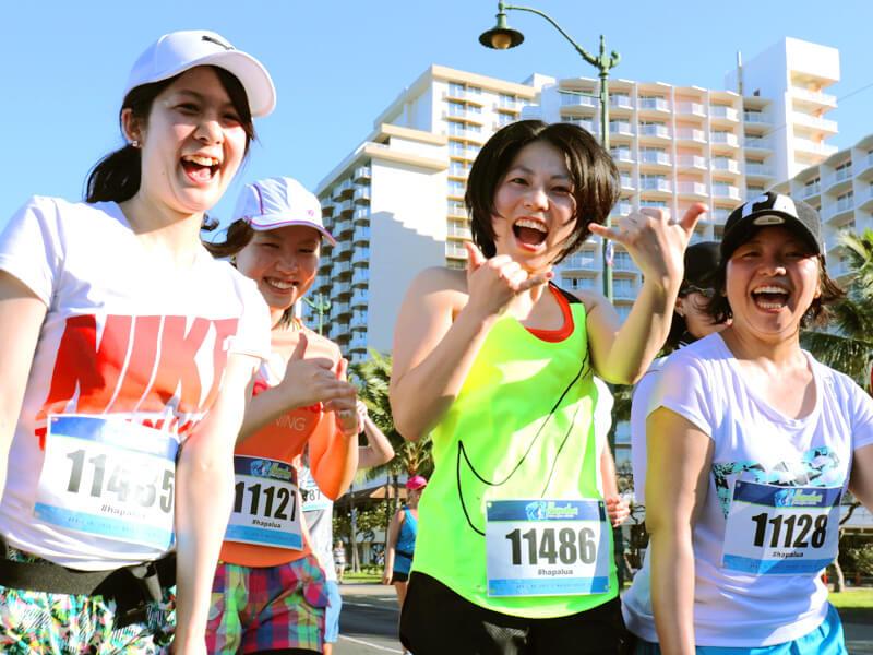 ハパルアマラソンに臨む女の子たち