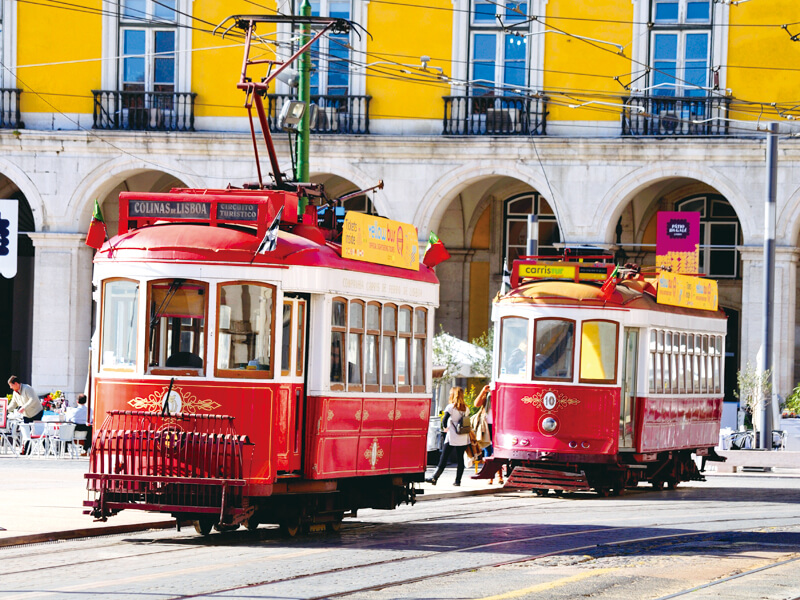 ポルトガルのケーブルカー