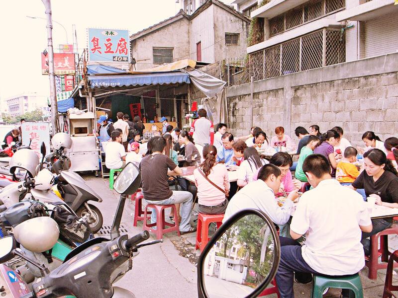 臭豆腐のお店の光景