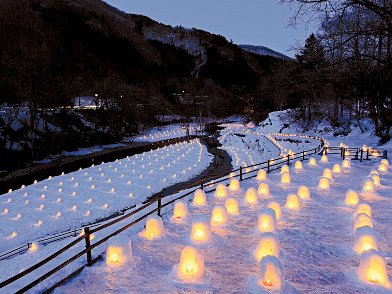 湯西川温泉 かまくら祭 ライトアップ