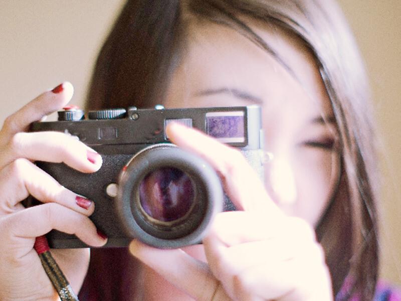 写真をとるイメージ