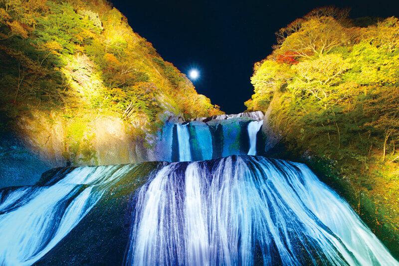 袋田の滝 ライトアップ