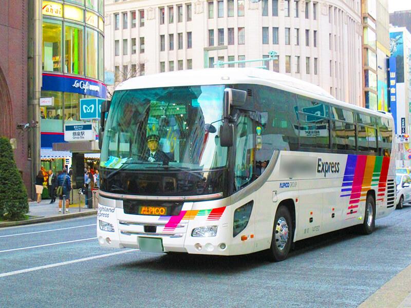 大型バスで観光めぐり
