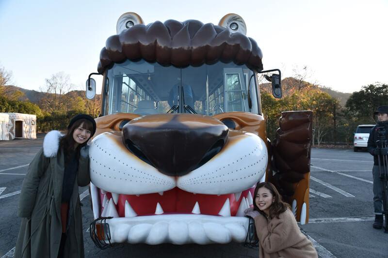 群馬サファリパーク|左から瀧川ありさ、真野恵里菜