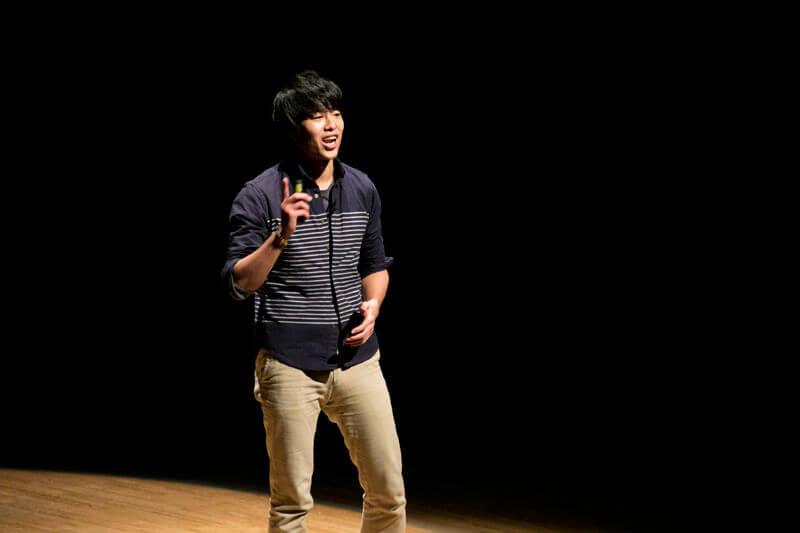 世界の魅力を伝えるコンテストWORLD」の最優秀賞の松田侑平さん