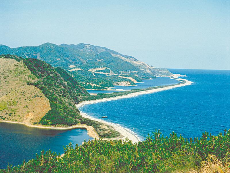 甑島の長目の浜
