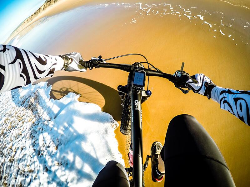 GoProで撮影された自転車からの画像
