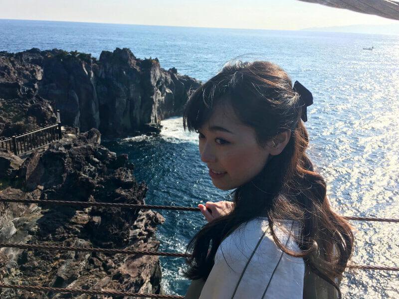 城ヶ崎海岸|福原遥 ©TBS