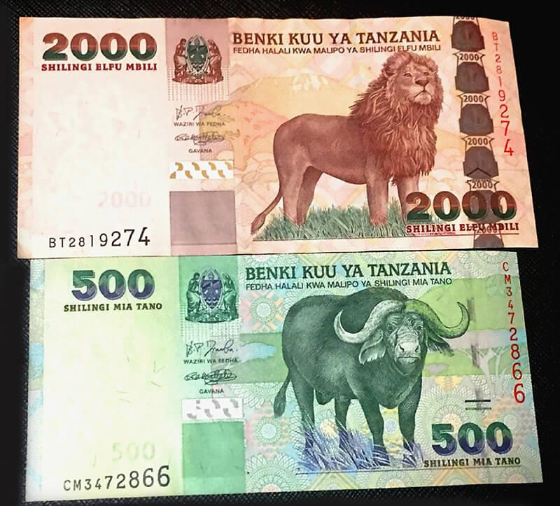 タンザニアの紙幣