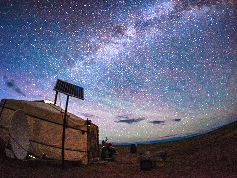 ゴビ砂漠の星空