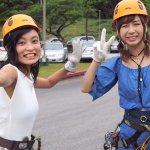 タレントの小島瑠璃子とAKB48大家志津香のグアム旅行後編!ジップラインや逆バンジーに挑戦!