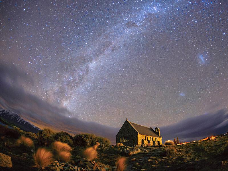 星空保護区のテカポ湖