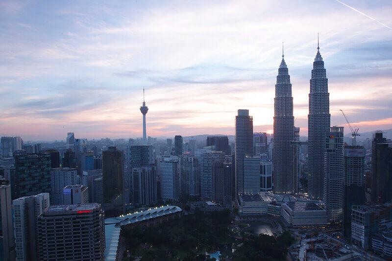 マレーシアの首都クアラルンプールの風景