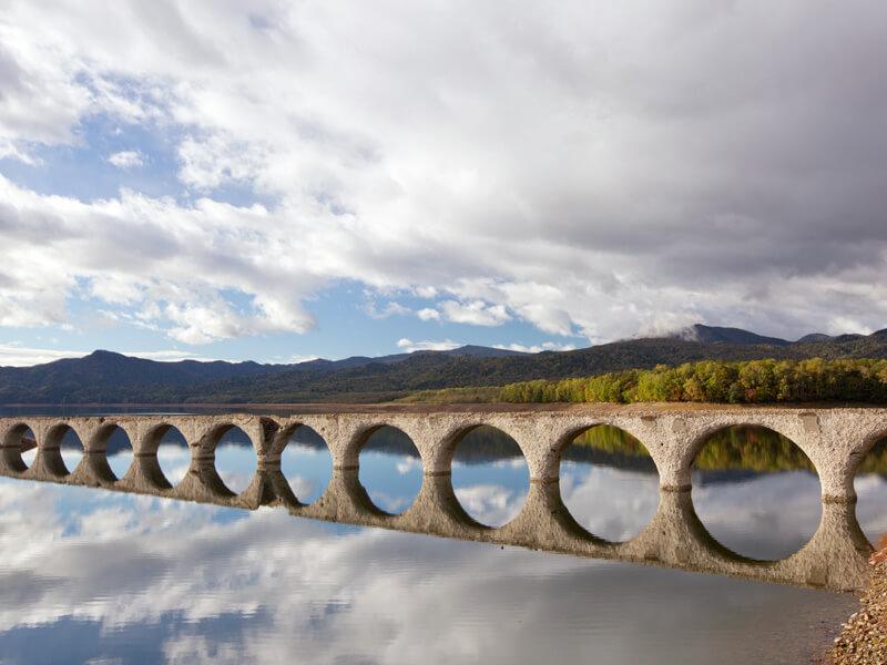 タウシュベツ川橋梁、メガネ橋の姿