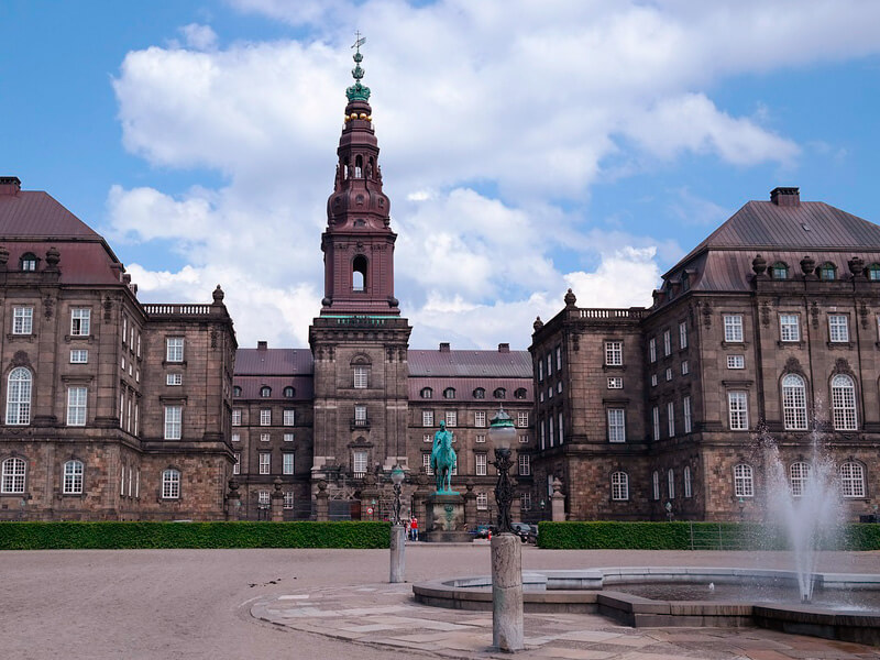 デンマークコペンハーゲンクリスチャンボー城写真