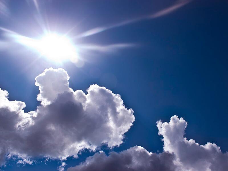 天気の良い空