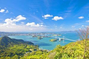亀老山展望公園からの眺め
