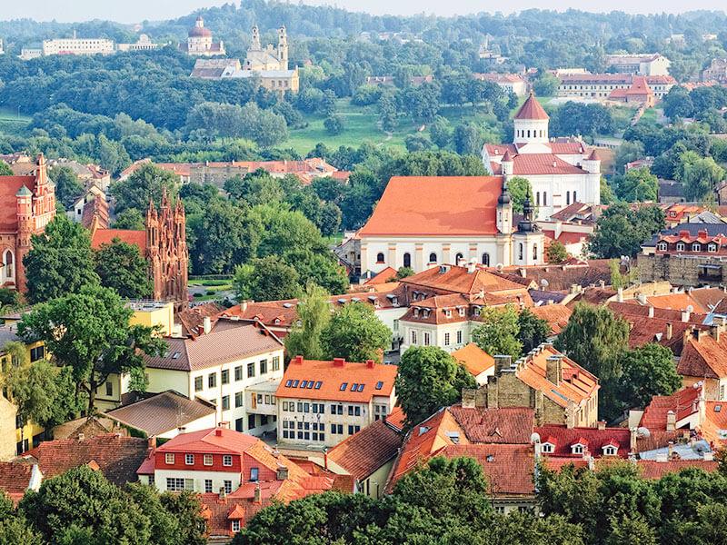 リトアニアの首都ヴィリニュス