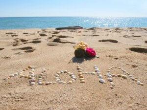 ハワイの砂浜
