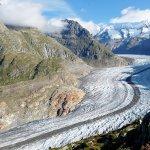 スイス観光のハイライト、世界遺産のアレッチ氷河が見てみたい!