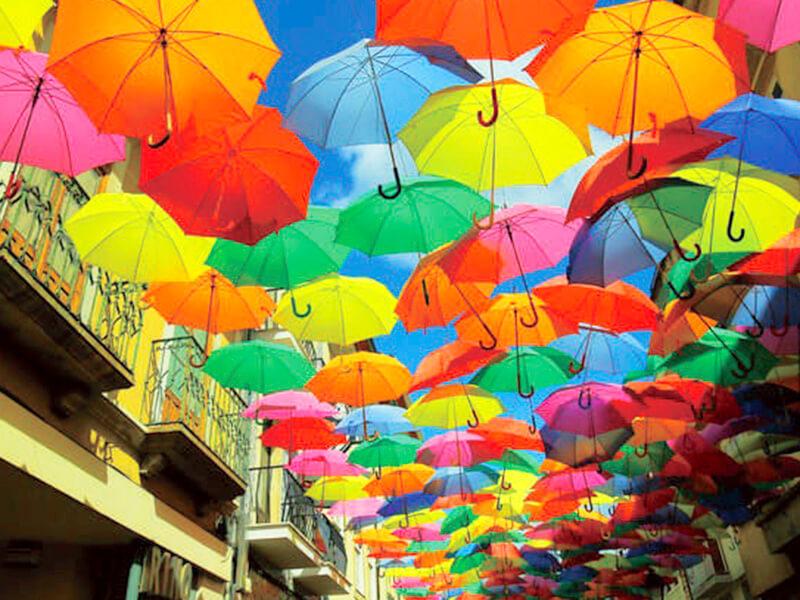 アグエダ 傘の道
