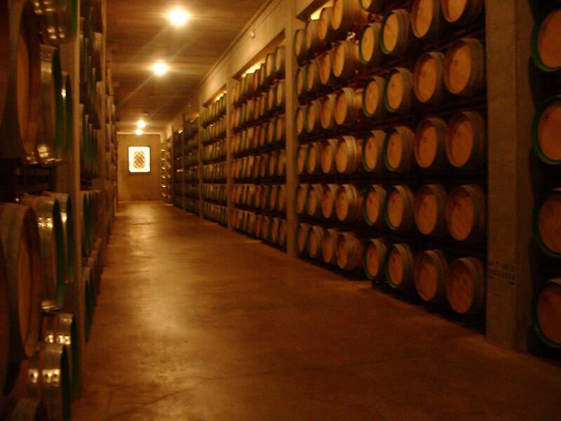ホテル・マルケス・デ・リスカルのワイナリーにあるワイン樽