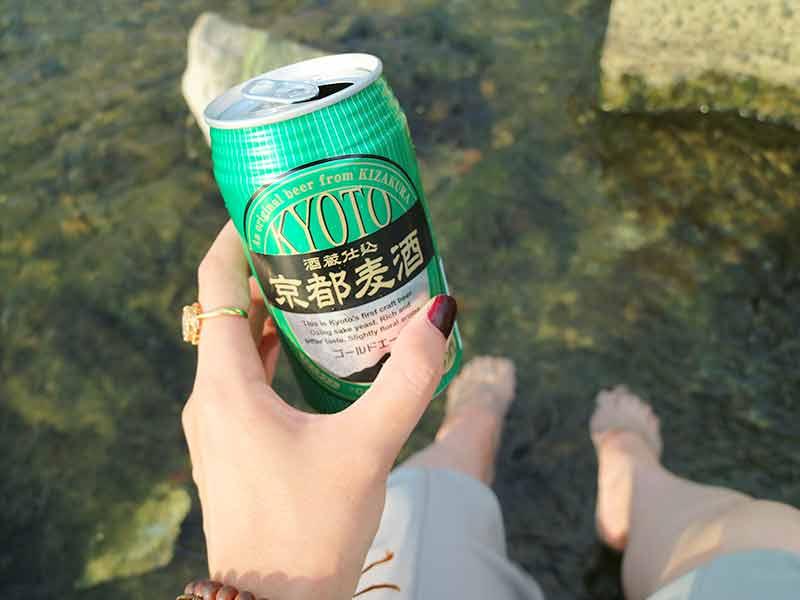 鴨川と水遊びと京都ビール