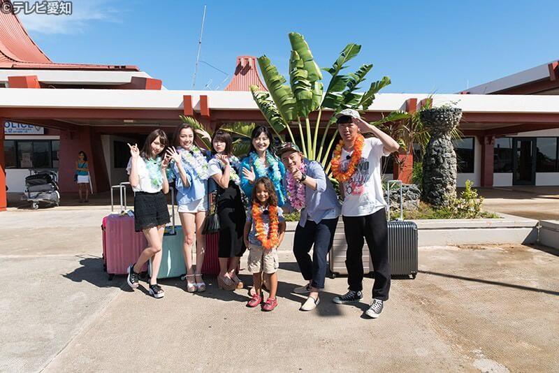 マリアナ観光大使のマリアナちゃんもサイパン国際空港でお出迎え ©テレビ愛知