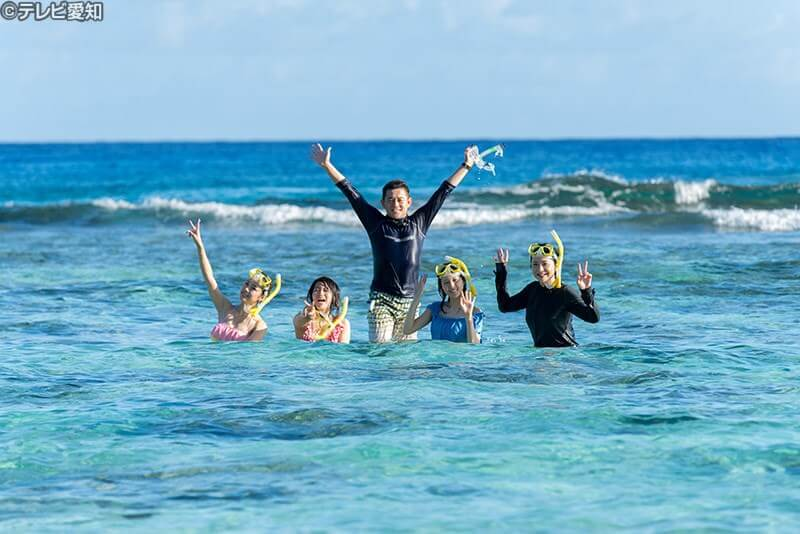 オブジャンビーチで人気のシュノーケリング体験 ©テレビ愛知