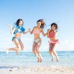山内鈴蘭・永島聖羅・石田安奈が旅する常夏サイパン。サンゴ礁で囲まれたマリアナブルーの海を楽しむ!