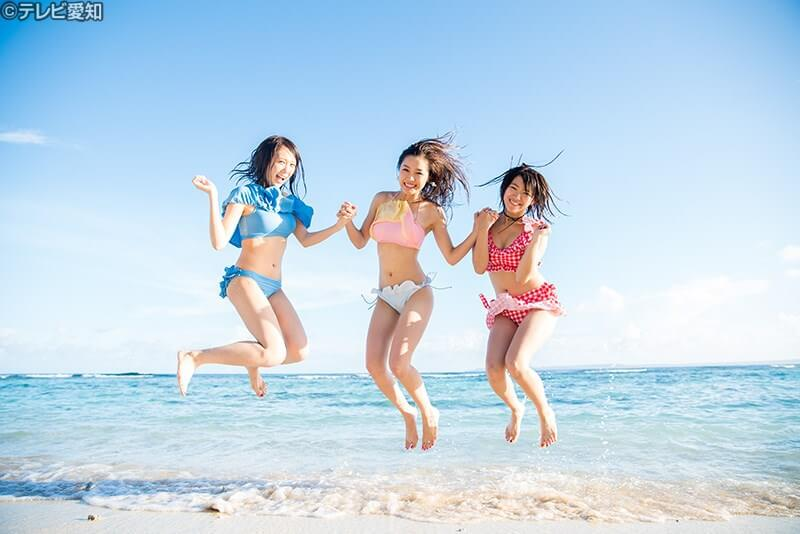 白砂のビーチに感動! ©テレビ愛知
