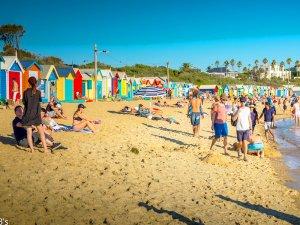 ブライトンビーチと小屋