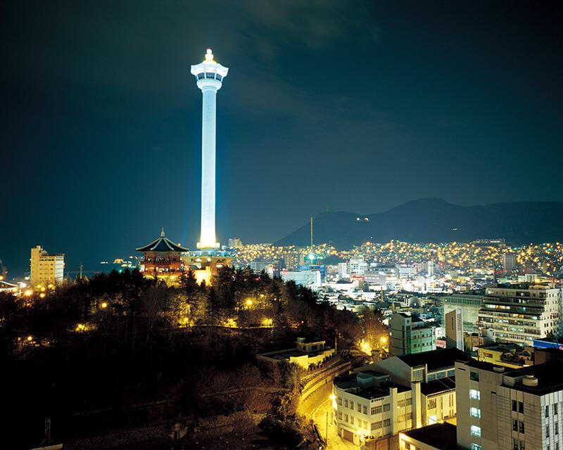 釜山タワー 夜景