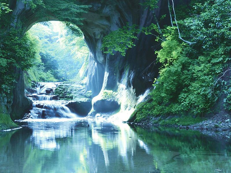 濃溝ノ滝日本の景色の壁紙
