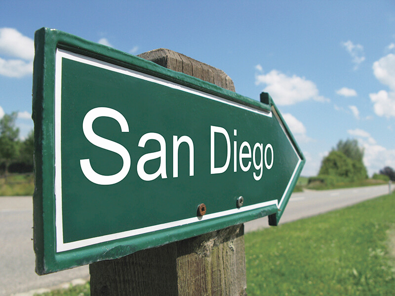 サンディエゴの標識